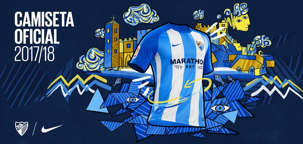El Málaga presenta una camiseta ya exclusiva y que apuesta por el azul