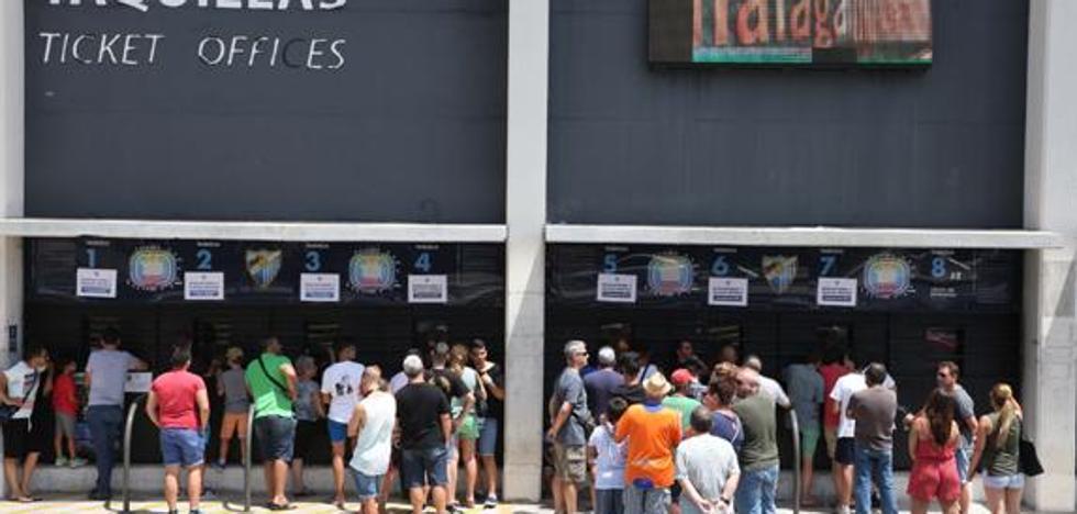 El Málaga supera los abonados de la pasada temporada