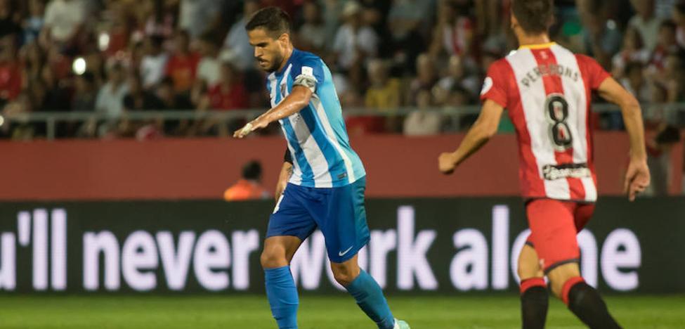 El Málaga, un fantasma de equipo en Gerona