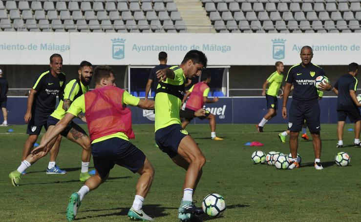 El entrenamiento del Málaga C.F. de este miércoles 6 de septiembre