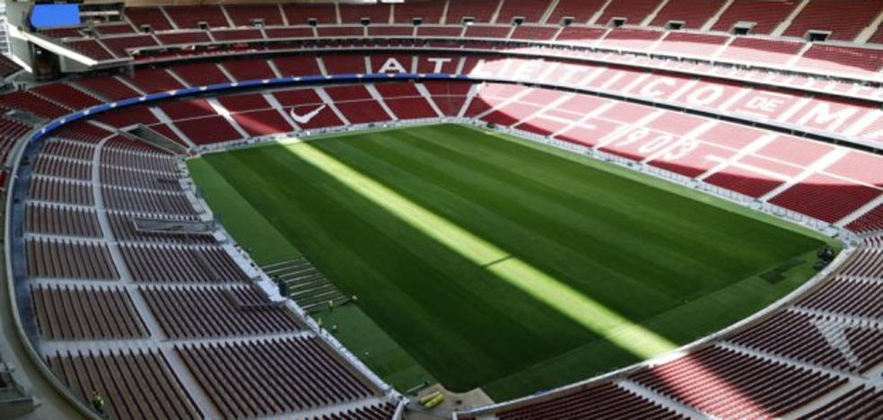 El Atlético se entrena por primera vez en el Wanda