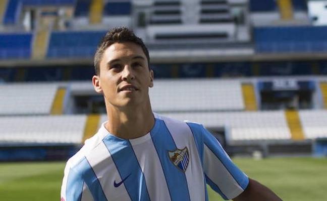 El Málaga confirma la lesión muscular de Ricca, baja un mínimo de dos partidos