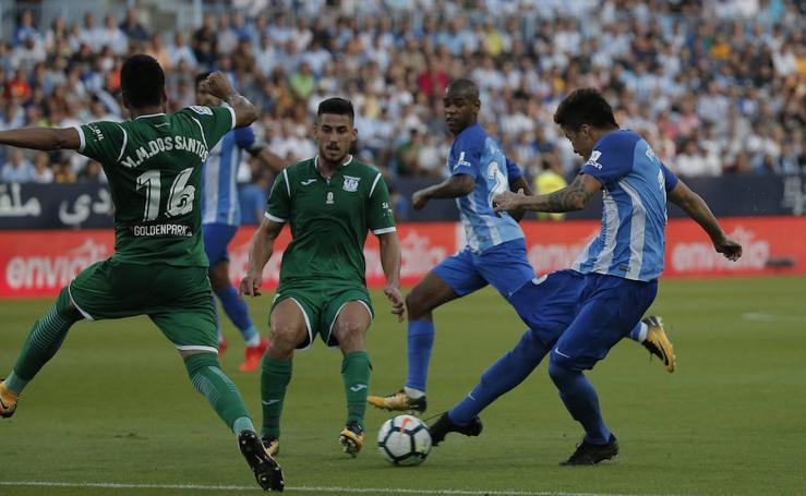 El Málaga cae frente al Leganés en La Rosaleda