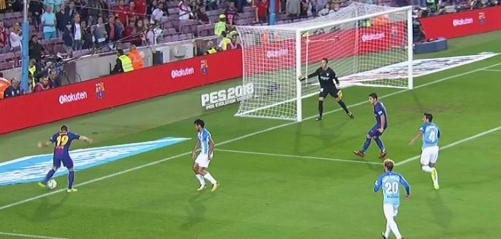 El clamoroso error del árbitro González Fuertes le da el 1-0 al Barcelona