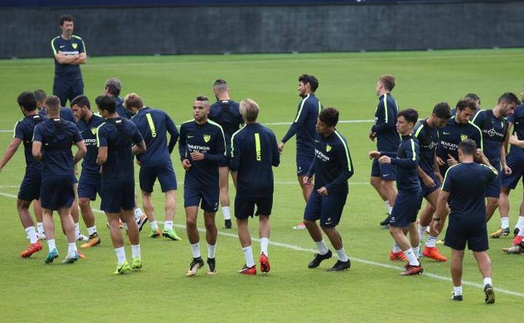 El Málaga prepara su partido de Copa ante el Numancia