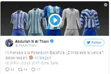 El jeque Al-Thani se queja por los arbitrajes al Málaga