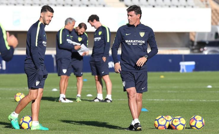 El Málaga regresa a los entrenamientos tras perder en Soria