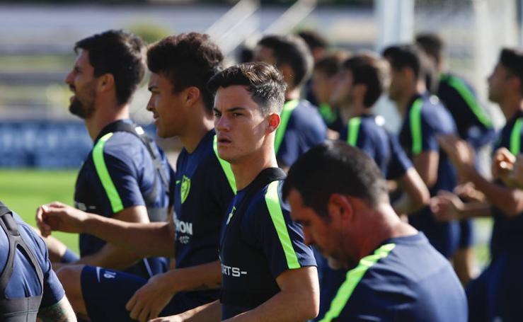 El entrenamiento del Málaga de este miércoles en fotos