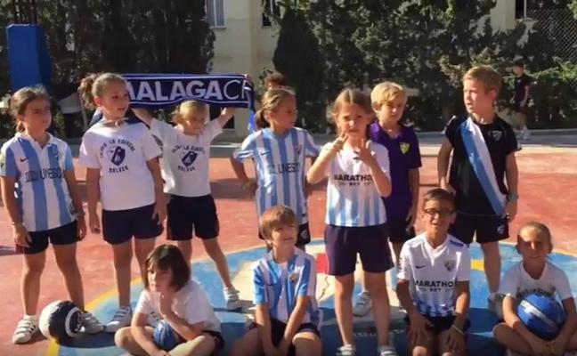 El himno del Málaga, en lenguaje de signos por niños de 8 años
