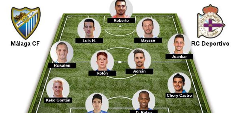 Rolón será el sustituto de Recio en el partido del Málaga ante el Deportivo
