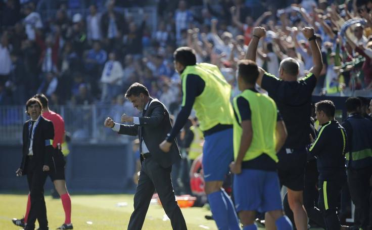 El Málaga-Deportivo, en imágenes