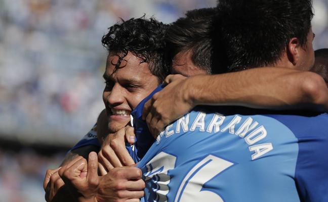 Un triunfo agónico y crucial del Málaga (3-2)