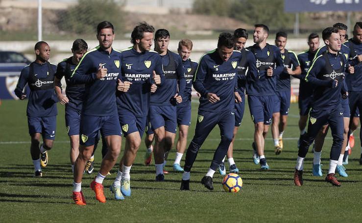 Así ha sido el entrenamiento del Málaga este miércoles