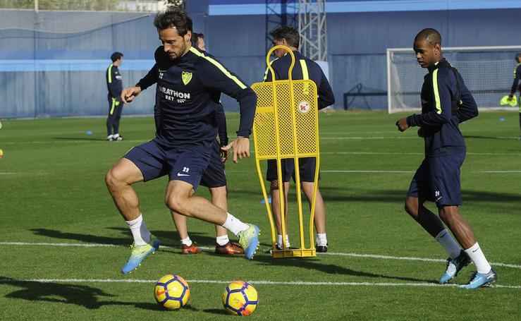 Las mejores fotos del entrenamiento del Málaga de este jueves