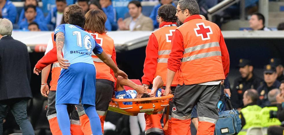 Juan Carlos se lesiona de gravedad y puede decir adiós a la temporada con el Málaga