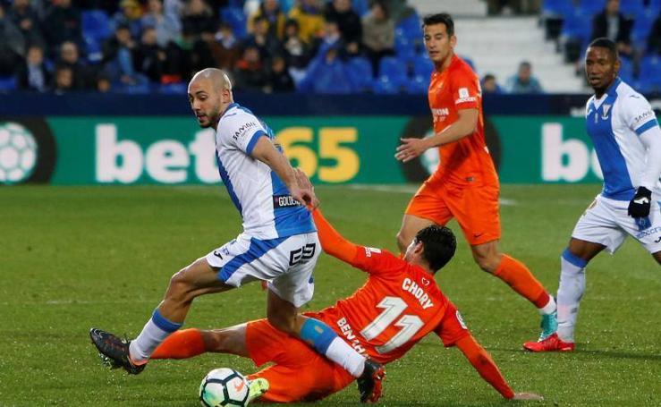 El Leganés-Málaga, en fotos
