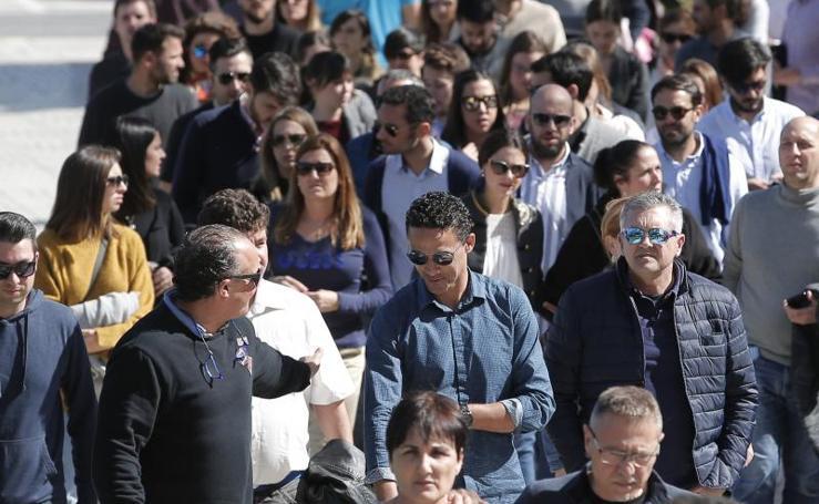 Así ha sido la despedida al exfutbolista del Málaga y médico Nacho Pérez Frías