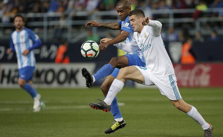 El Málaga-Real Madrid en La Rosaleda, en imágenes