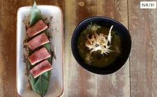 Vídeo | Así se hace el aguachile de gambas de cristal y ventresca de atún de Malallama