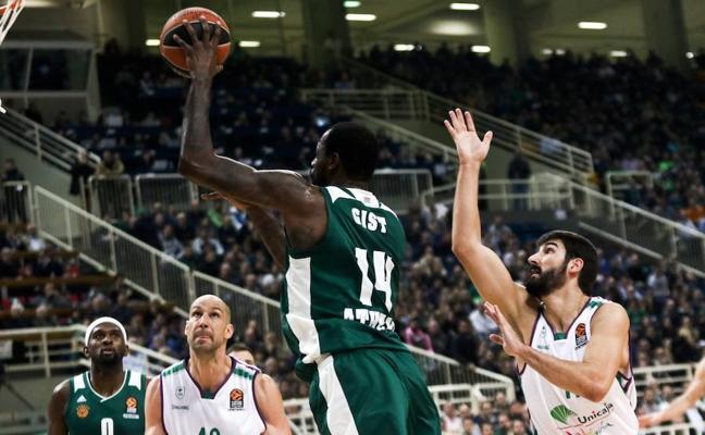 El Unicaja pierde ante el Panathinaikos