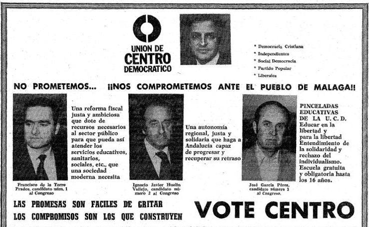 Anuncios electorales de la campaña del 15-J en Málaga