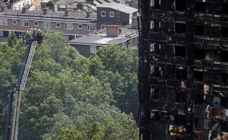 El edificio Grenfell Tower tras el incendio
