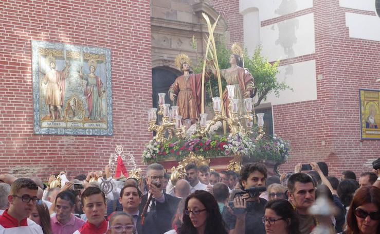 Los Santos Patronos procesionan por Málaga