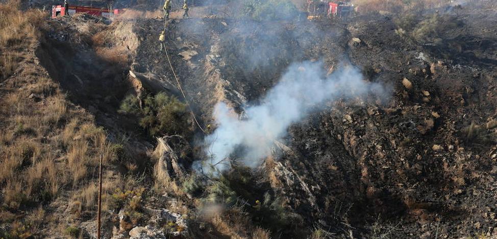 Controlado el incendio en el paraje de La Corta en Málaga capital