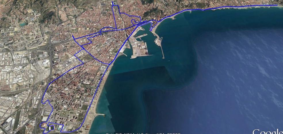 Recorrido del Maratón de Málaga 2017