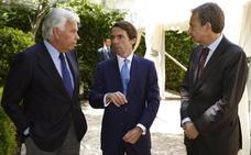 Vocento reúne a los expresidentes González, Aznar y Zapatero para celebrar 40 años de democracia