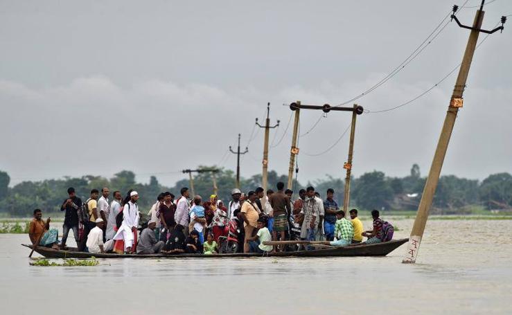 Impresionantes imágenes de las inundaciones en la India