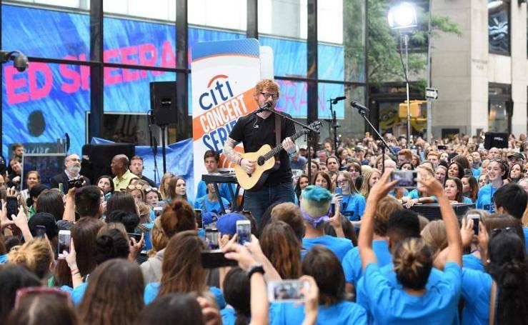 Concierto de Ed Sheeran en la plaza Rockefeller