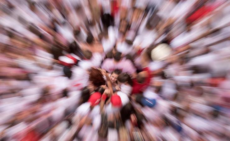 Las mejores fotos del chupinazo de San Fermín