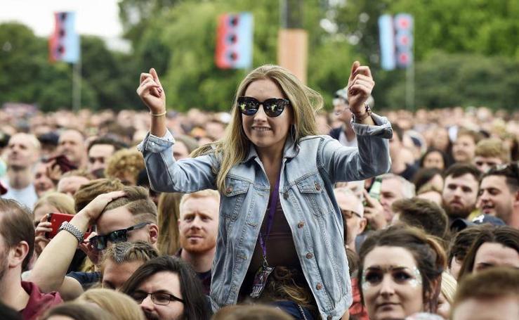 Festival de música en el parque de Glasgow