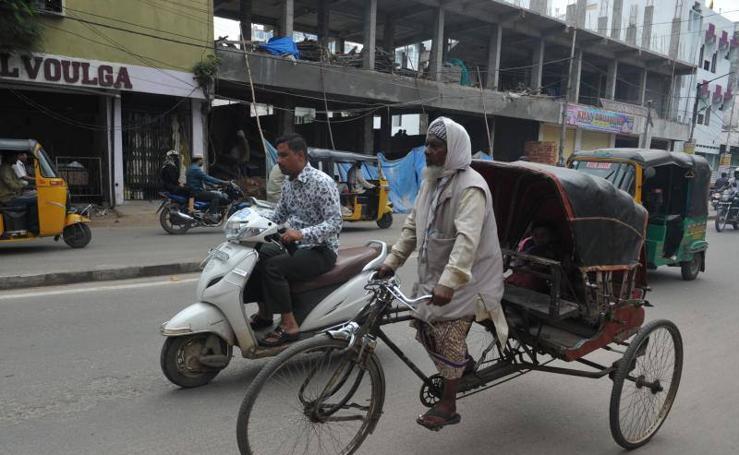 El retroceso de los típicos Rickshaw de la India