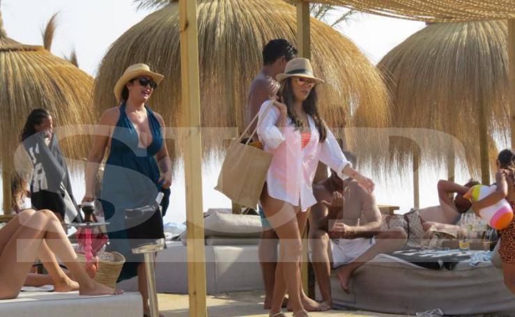 Eva Longoria en las playas de Marbella