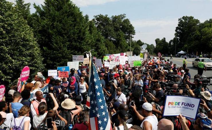 Manifestación en defensa del control de armas en Estados Unidos