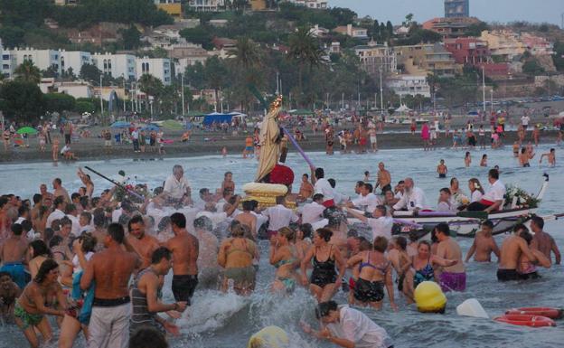 Imagen de archivo de la procesión de la Virgen del Carmen de El Palo.