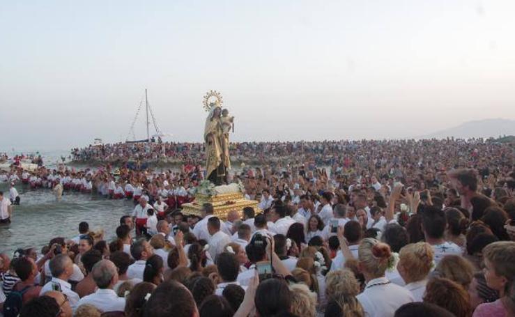 Las procesiones de la Virgen del Carmen en Málaga