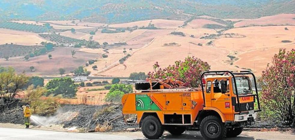Declarados dos incendios en Ronda y Montecorto