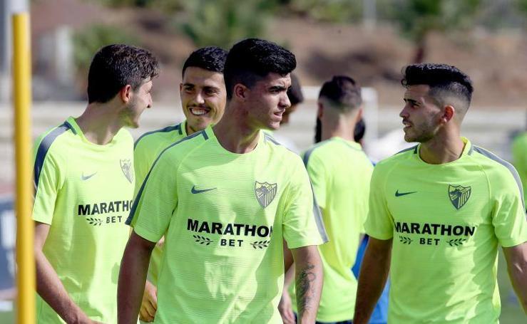 Último entrenamiento del Málaga C.F. antes de partir a Holanda