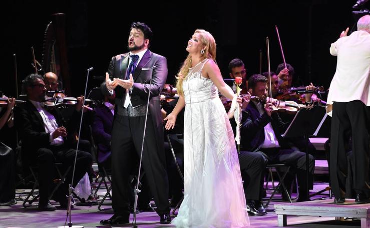 La soprano Anna Netrebko, en concierto en Starlite Marbella