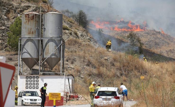 Declarado un incendio en los Asperones de Málaga