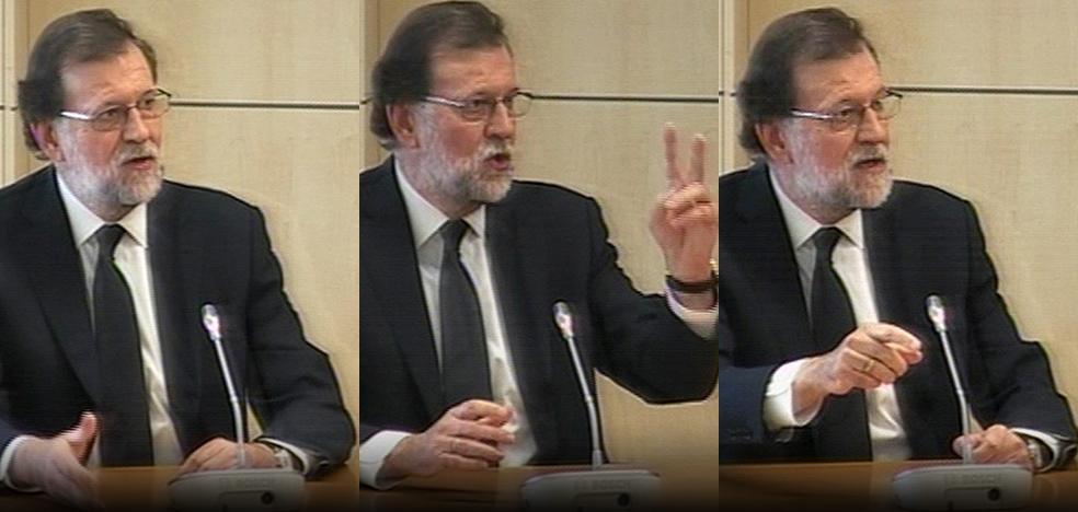 Rajoy, ante la Audiencia Nacional: «Los SMS a Bárcenas no tienen ningún significado»