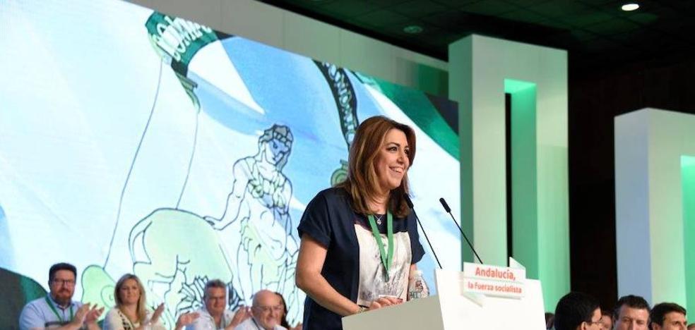 Susana Díaz recibe a Pedro Sánchez con un mensaje rotundo: «Nunca fuimos nacionalistas»
