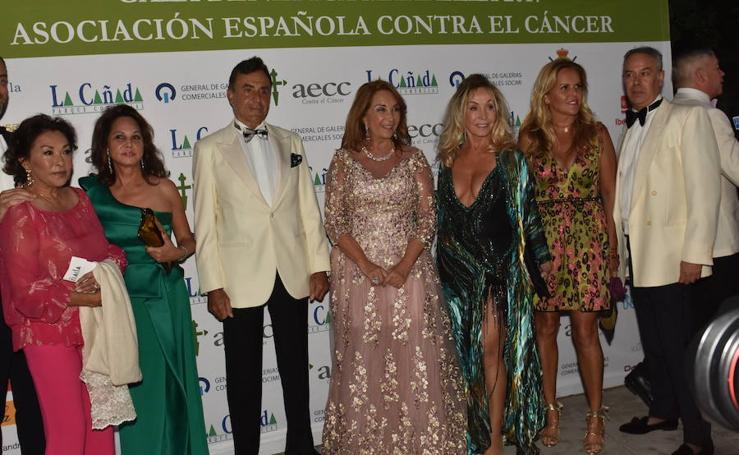 Numerosas caras conocidas se dan cita en la gala del cáncer de Marbella