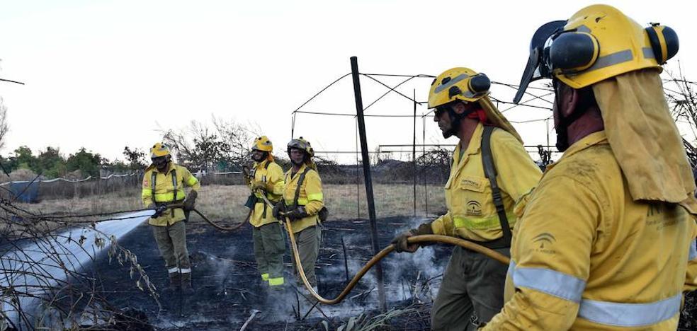 Un incendio en el Velerín de Estepona obliga a desalojar dos urbanizaciones