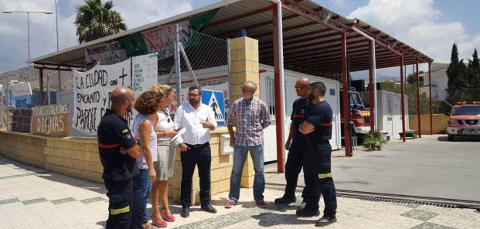 Los socialistas exigen al gobierno del PP en la Diputación la apertura del parque de Bomberos de Nerja