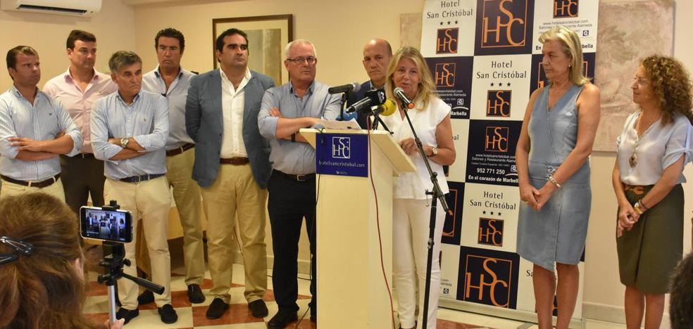 PP y OSP presentan la moción de censura en Marbella y un pacto basado en descentralizar la gestión