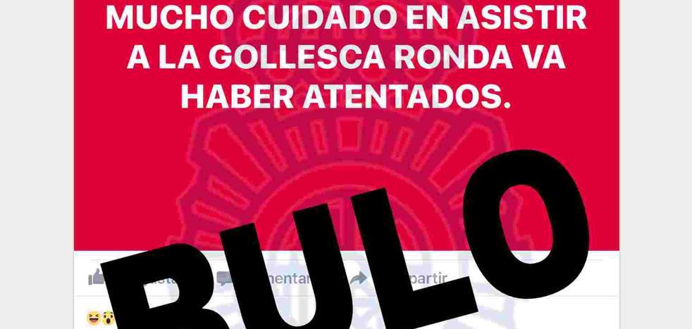 B de Bulo | Investigan a un hombre de 51 años por crear un bulo en Facebook sobre una amenaza de atentado en la corrida goyesca de Ronda
